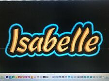 """CUSTOM EMBROIDERED NAME TAG AIRSOFT SHAPE, Sew on patch Quality Badge 8"""" X 3"""""""
