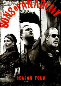 Sons of Anarchy Season Four 4 Disc Sset - DVD Series Rare Aus Stock -Excellent