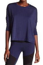PUMA Women Evo 3/4 Length Sleeve Top Color Peacoat NWT Size XS MSRP 45$