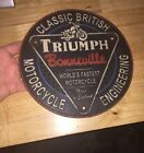 Triumph Motorcycles Bonneville Cast Iron Plaque Patina Harley Indian GIFT 3+LBs