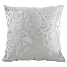 Velvet Rose Flower Floral Throw Soft Sofa Pillow Case Cushion Covers Home Decor