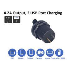 Dual USB Charger Car Lighter Socket Output Spliter for Boat Motorcycle Truck US