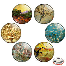 "Trees in Fine Art 1.25"" Pinback Button BADGE SET Novelty Pins Gogh Painting Gift"