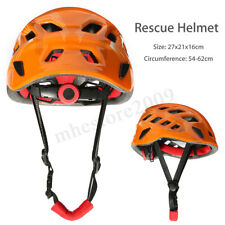 Rock Climbing Caving Rescue Safety Helmet Hard Hat Head Protector Outdoor Orange