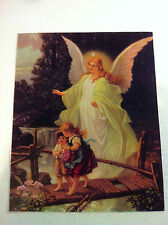 GUARDIAN ANGEL and CHILDREN CROSSING OVER BRIDGE(Heilige Schutzengel) & free CD