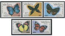 LAOS N°1102/1106** Papillon, 1993 Butterflies Sc#1143-1147 MNH