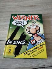 Werner 4 – sattes Ding … 4 DVD- Box mit Bonus Comic selten Zustand sehr gut!