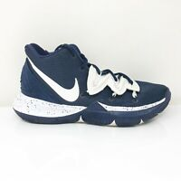 Nike Mens Kyrie 5 TB CN9519-400 Navy Basketball Shoes Lace Up Mid Top Size 8