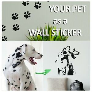Paw Prints Wall Stickers + Transfer Decal Service Cat Dog / Any Photo Conversion