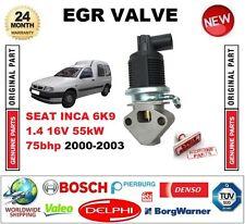FOR SEAT INCA 6K9 1.4 16V 55kW 75bhp 2000-2003 Electric EGR VALVE 5 PIN PLUG