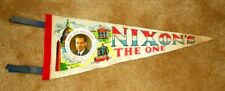 Vintage 1968 Nixon`s The One Presidential Campaign Photo Pennant