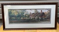 """""""An English Cottage""""PAUL LANDRY- Framed Matted signed/limited edition Litho"""
