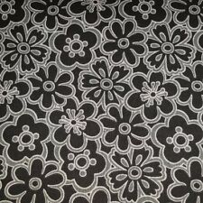 Fabric Traditions Black Gray floral Cotton Quilting Sewing Fabric crafting yard
