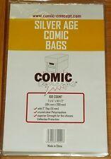 100 x SILVER AGE COMIC CONCEPT COMIC BAGS
