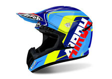 AIROH SWITCH SIGN BLUE MOTOCROSS HELMET - ACU GOLD STAMP FITTED