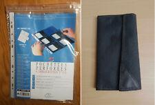 """Portofolio + 5 Pochettes pour disquettes 3,5"""" Format A4 Perforation Classeur"""