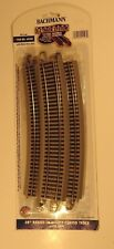 """Bachmann EZ Track 28"""" Radius 18 degree Curved Track -Set of Five (5)-HO scale"""