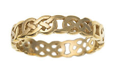 Mens Celtic Band Ring Yellow Gold Celtic Ring Wedding Band Hallmarked
