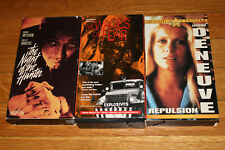 Vintage Vhs Lot Night Of The Hunter Wages Fear Repulsion Roman Polanski Laughton