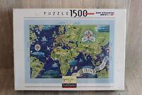 Puzzle Nathan 1500 pièces - Air France - Planisphère 1937 - NEUF sous blister