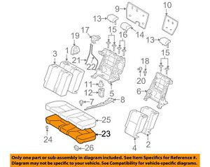 Scion TOYOTA OEM 05-10 tC Rear Seat-Foam Cushion Pad 7150321011