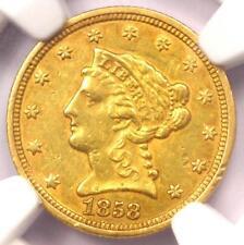 1858-C Liberty Gold Quarter Eagle $2.50 - NGC AU Details - Rare Charlotte Coin!