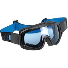 Biltwell Overland Motorcycle Vintage Retro Cafe Racer Riding Goggles -Black/Blue