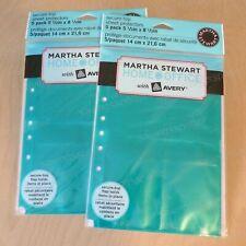 2 Martha Stewart Sheet Protectors 55x85 Secure Top 4 Pockets Teal Blue Green