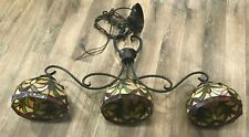 Vintage Hanging Stained Glass Tiffany Style Light Fixture