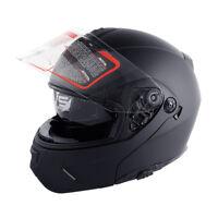 Unisex Motorcycle DOT Dual Visor Full Face MotorBike Street Helmet M L XL XXL TC