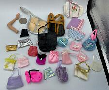 Barbie Doll Fashion Accessory LOT TRAVEL VACATION PURSE HANDBAG CLUTCH