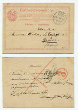 22377 - Ganzsache - Postkarte - Zug 27.1.1874 nach Geneve Genf