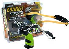 NEW BARNETT DIABLO POWERFUL HUNTING SLINGSHOT CATAPULT WITH FREE AMMO