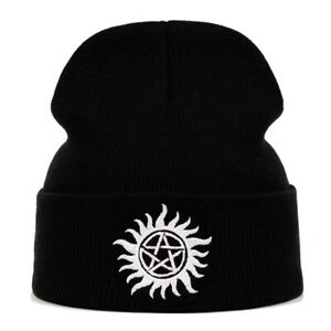 Adult Supernatural - Join the Hunt - Anti Possession Black Knit Beanie - New