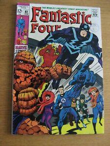 Fantastic Four #82 (1969 Marvel) [VF+/NM-] App Inhumans superb Jack Kirby art