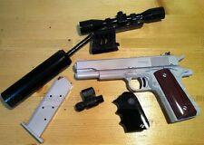 3D Paper Papercraft Studio hitman silverballer ACP 45 Pistol scale 1:1