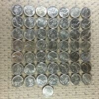 Lot of 50 Coins Pre-1921 Morgan Silver Dollars XF-AU Mix Dates 1878-1904