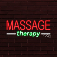 """Brand New """"Massage Therapy"""" 32x13X1 Inch Led Flex Indoor Sign 30575"""