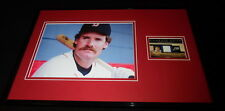 Wade Boggs Framed 11x17 Game Used Jersey & Photo Display Red Sox Rays