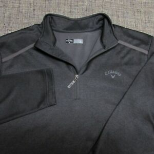 CALLAWAY SOFT POLY 1/4 ZIP GOLF PULLOVER--L--CLASSY LOOK!--TOP SPOTLESS QUALITY!