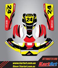 Zanardi Kart New Age 2 go kart sticker kit NERO STYLE decals / Kart Art