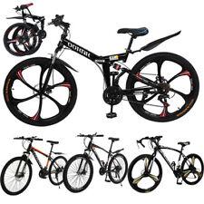 """26"""" Mountain Bike Full Suspension Shimano 21 Speed Mens Kid Bikes MTB Bicycle US"""