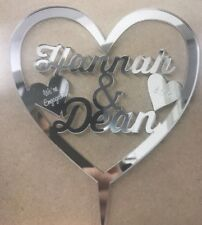 Engagement Personalised Engraved Cake Toppers Decorations Anniversary Birthday