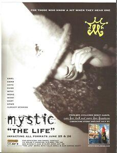Digital Underground MYSTIC Rare VINTAGE Life PROMO TRADE AD Poster for 2001 CD