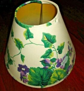 WAVERLY SWEET VIOLETS PURPLE & GREEN FLORAL (1) LAMPSHADE LAMP SHADE 4X10X7
