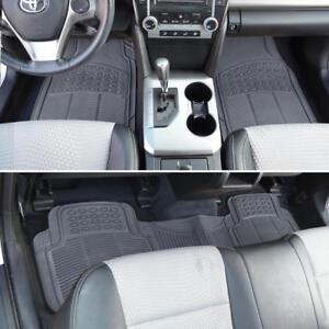 Rubber Car Floor Mats forJeep Grand Cherokee Waterproof All Weather - Gray