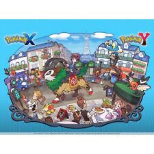 Pokemon XY ir original cartel oficial con licencia Coleccionable Para 3 DS Rojo Azul