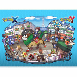 XY Pokemon GO Genuine Poster Official Licensed Collectable for 3DS Red Blue