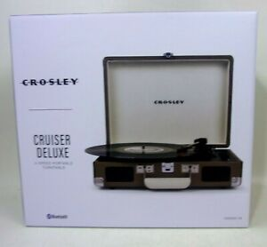 Crosley Cruiser Deluxe Portable 3 Speed Bluetooth Record Player CR8005D-TW Tweed