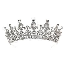 Royal Bridal Pageant Rhinestone Crystal Prom Wedding Crown Tiara 81062